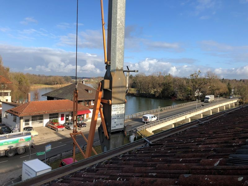 Sonnenblick überm Dach SeeHotel Wassermann am Chiemsee