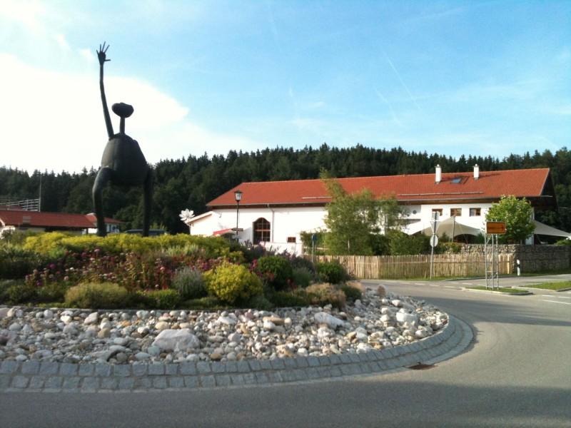Skulptur Seeon Kreisverkehr