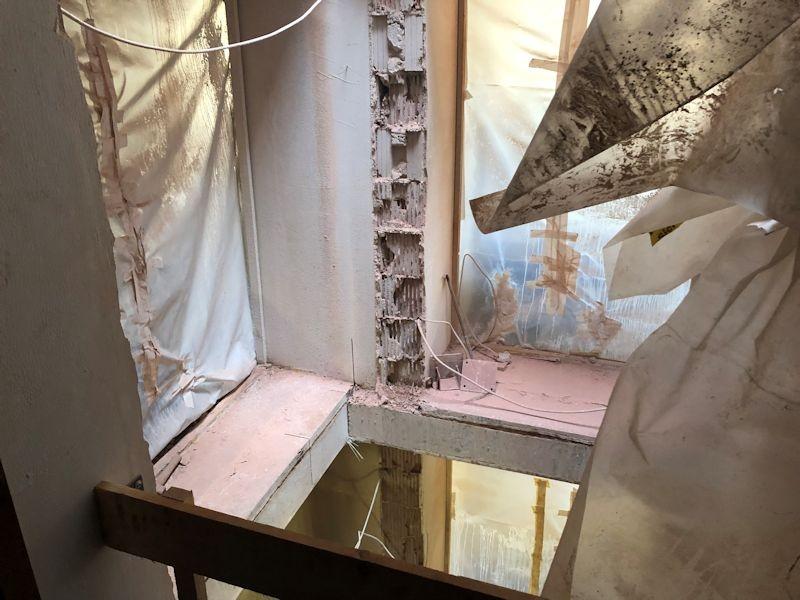 Abbruch Aufzugwände 1. Stock - SeeHotel Wasserman Ihr Hotel am Chiemsee