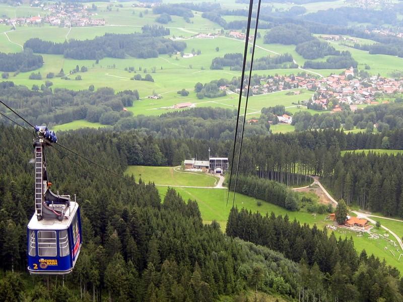 hochriesbahn mit blick auf grainbach