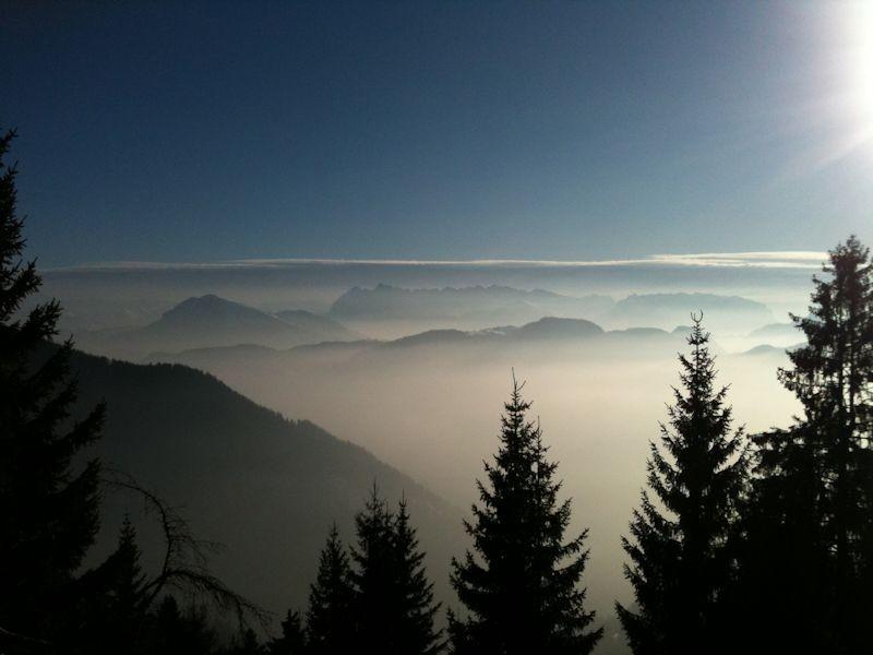 wilderkaiser überm nebel