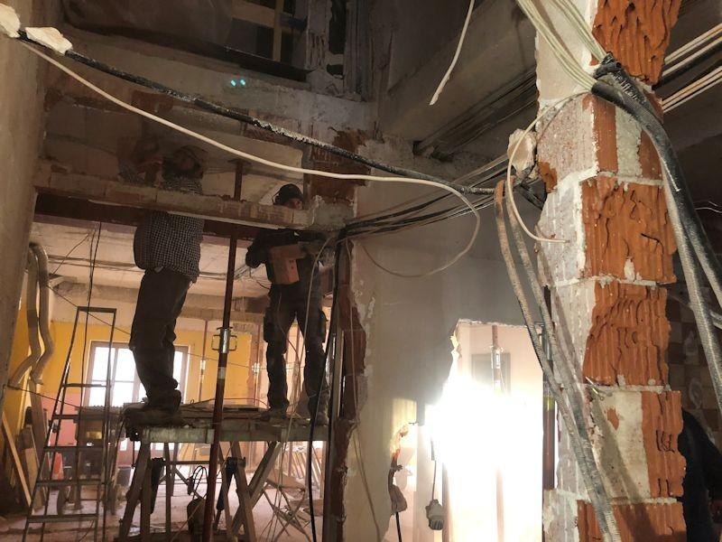 Abbruch Gangwand Büros SeeHotel Wasserman Ihr Hotel am Chiemsee