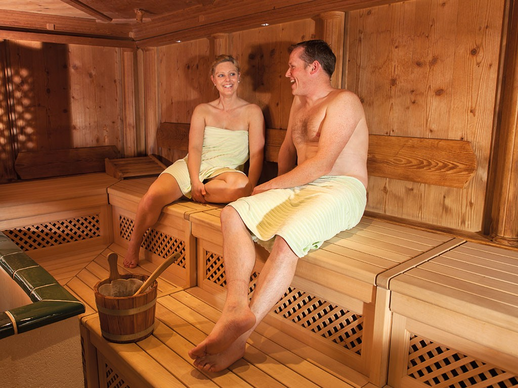 Sauna im Seehotel Wassermann