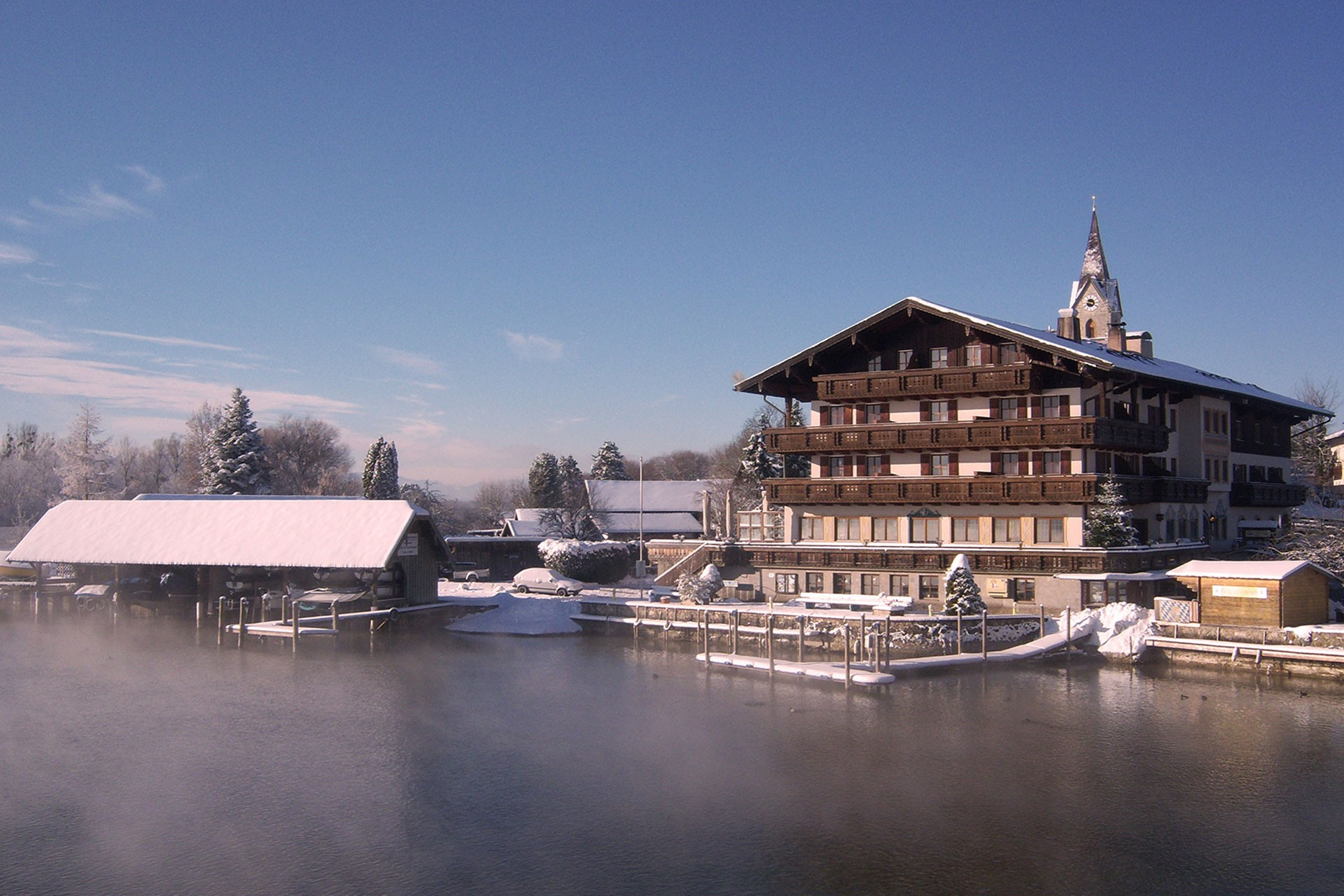 SeeHotel Wassermann am Chiemsee im Winter