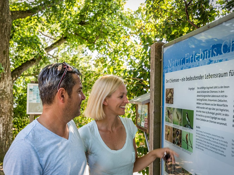 Wanderinformation am Chiemsee