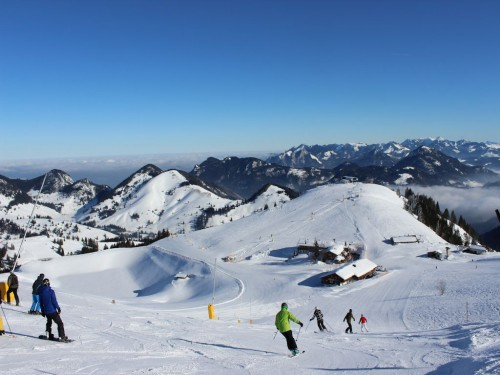 Skiing paradise Sudelfeld