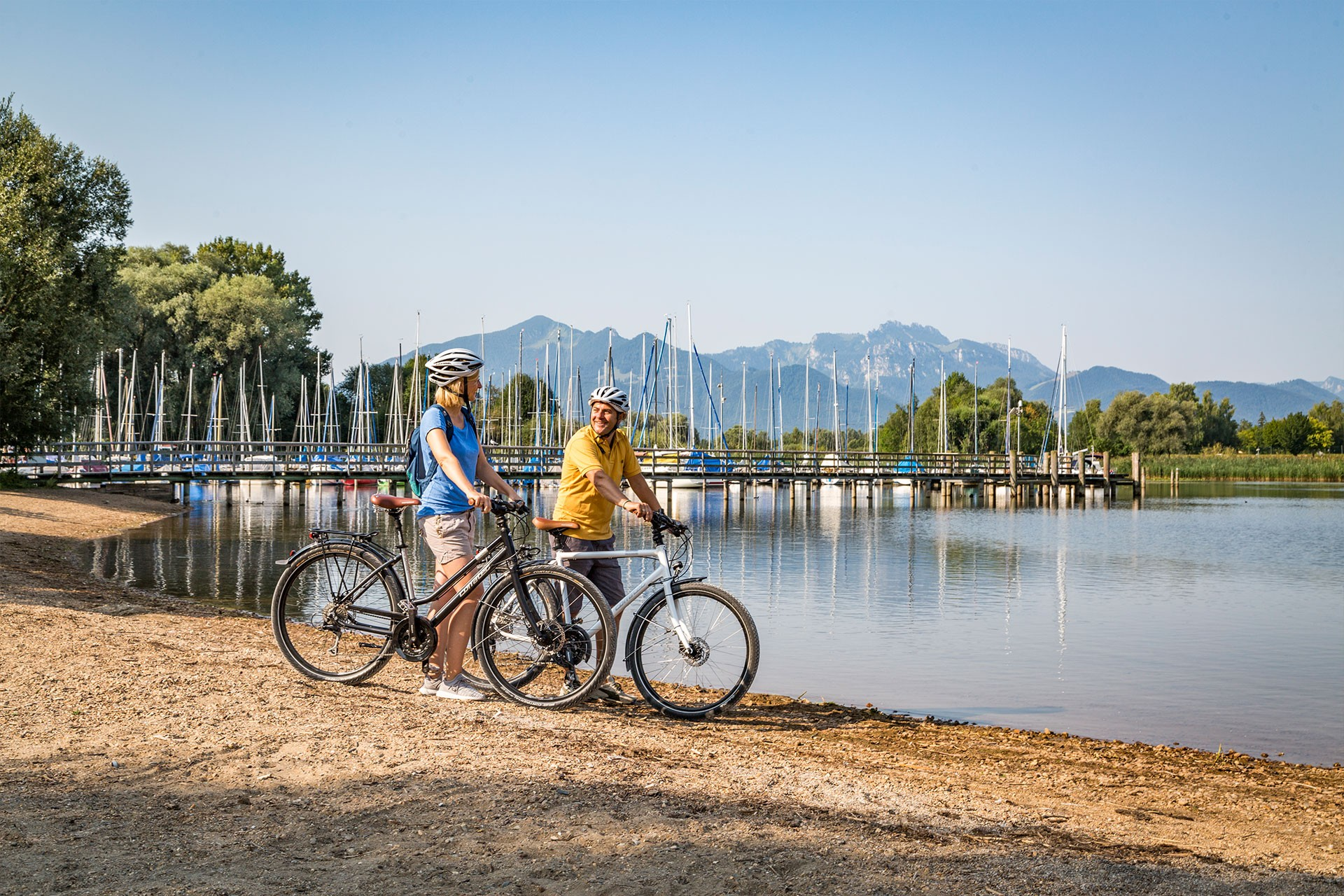 Cycling at the Chiemsee