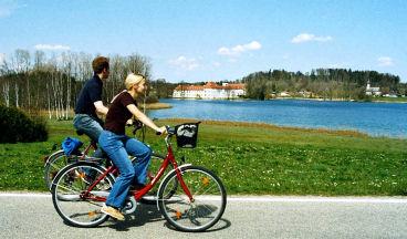 Radfahrer Kloster Seeon