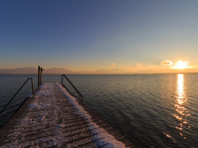 Ab an den Chiemsee im Winter