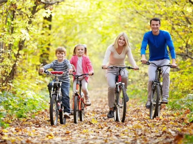Herbstliche Familienradtour