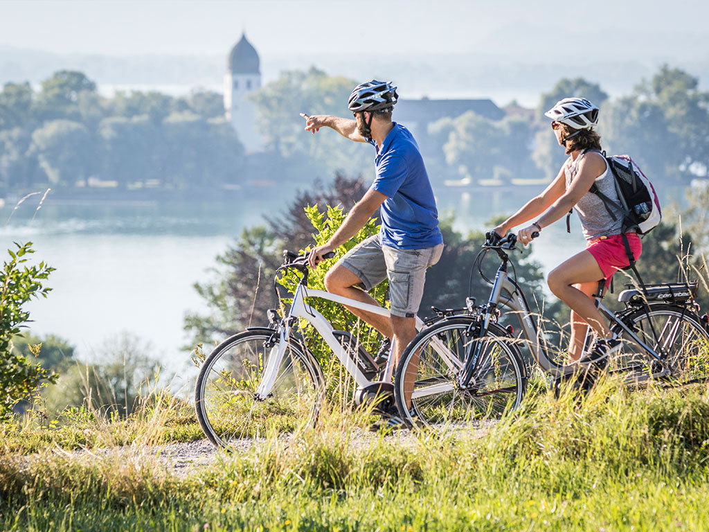 Radfahren mit Inselblick - Chiemsee