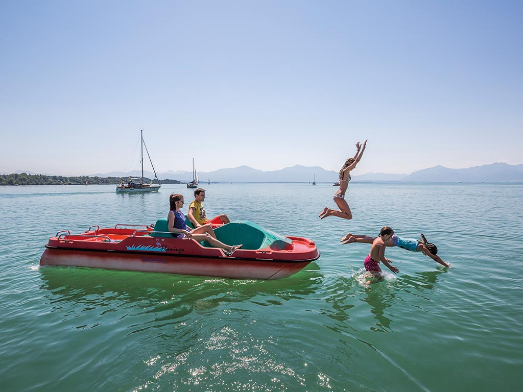 Sommerurlaub Familie Chiemsee