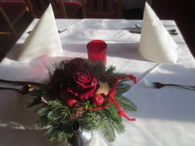 Weihnachtliche Tischdecko